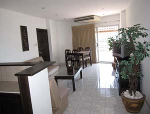 64 sqm apartment for rent with balcony and see view at